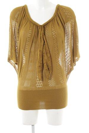 WE Fashion Camicia maglia giallo lime Motivo a maglia leggera Stile Boho