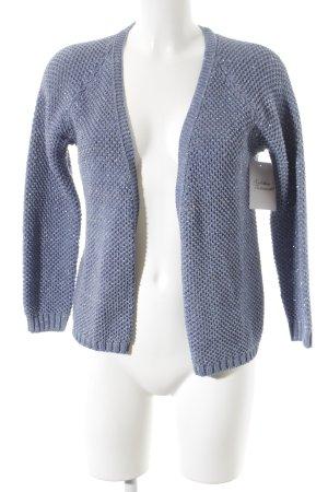 WE Fashion Strickweste himmelblau Lochstrickmuster schlichter Stil