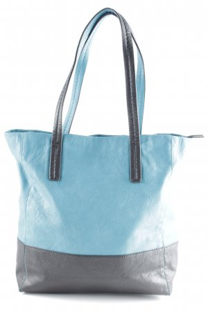 WE Fashion Tote schwarz-neonblau Casual-Look