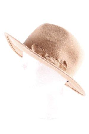 WE Cappello in feltro marrone chiaro stile semplice