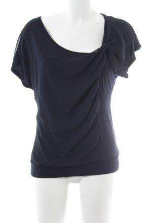 WE Kurzarm-Bluse dunkelblau Casual-Look