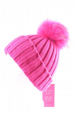 We Love Furs Berretto rosa scintillante
