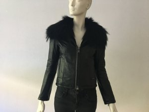 We Love Furs Leder Jacke Gr. S Pelz wie neu NP über 500€