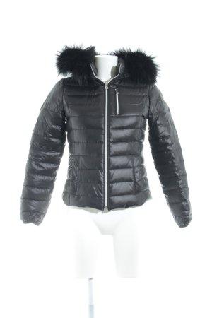 We Love Furs Winterjacke anthrazit Steppmuster Urban-Look