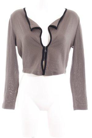 Wearhouse Giacca fitness marrone-grigio-nero motivo etnico