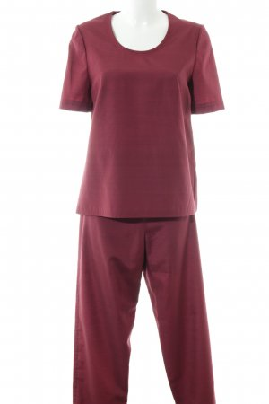Woven Twin Set bordeaux-black flecked casual look