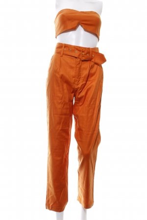 Ensemble tissé orange foncé style mode des rues