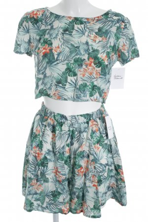 Web twin set bloemen patroon Beach-look