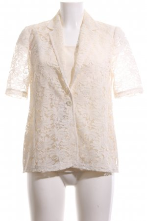 Woven Twin Set oatmeal flower pattern casual look