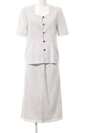 Woven Twin Set white-black check pattern business style