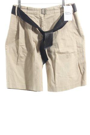 Weber Pantalon court beige-noir style décontracté