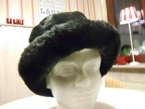 Sombrero de piel negro Fibra sintética