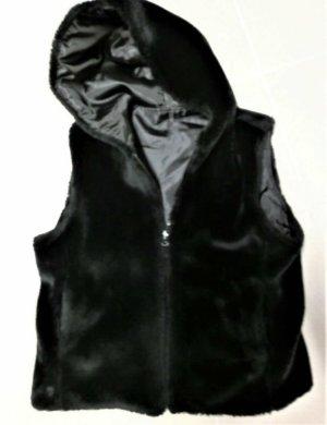 Chaleco reversible negro Poliéster
