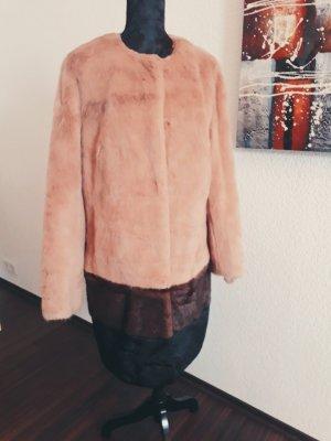 Webpelzmantel fake fur gr.36 Mantel blogger kuschelig braun neu Judith Willams I love Milano Designer gr.S