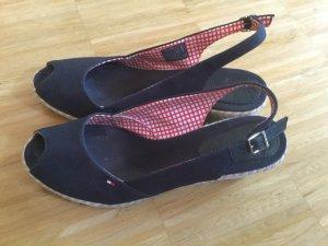 Tommy Hilfiger Wedge Sandals dark blue-beige