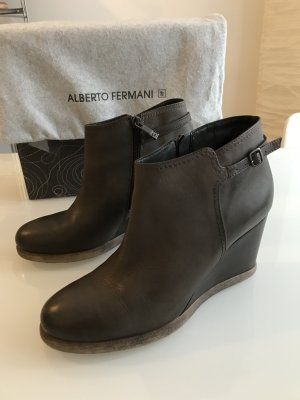 Alberto Fermani Wedge Booties dark brown
