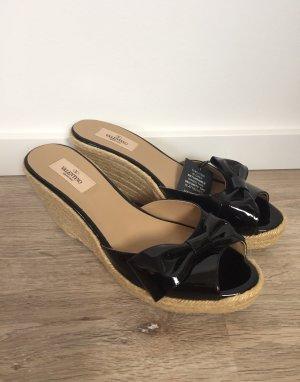 Valentino Heel Pantolettes beige-black mixture fibre