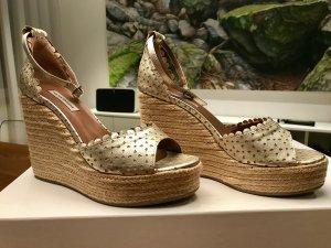 Wedge-Sandalen aus Leder von Tabitha Simmons