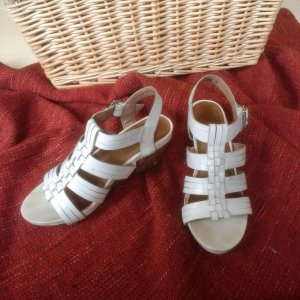 Hush Puppies Wedge Sandals white leather