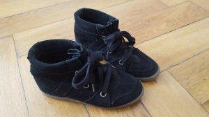 Wedge Sneaker Keilabsatz 38 37,5 Wildleder Bobby