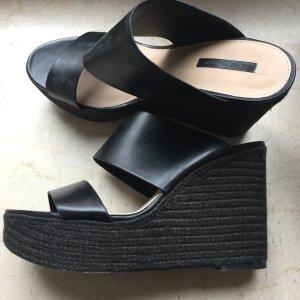 Zara Sandalo nero Finta pelle