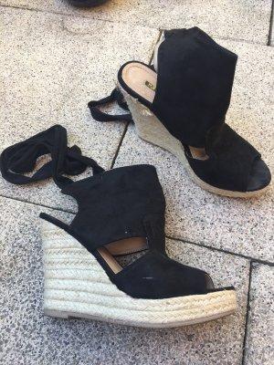 Wedge Sandals black-beige
