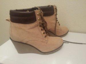 Wedges Absatz Schuhe im Timberland Stil