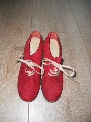 Wedges Boots Schuhe Deichmann rot Gr. 37