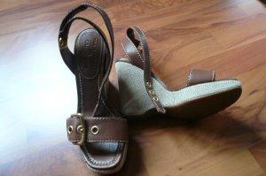 Wedges Car Shoes by PRADA aus Leder Gr.36