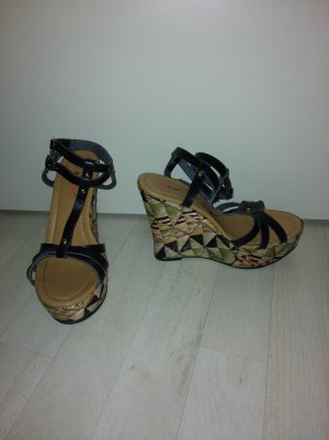 JustFab Wedge Sandals multicolored