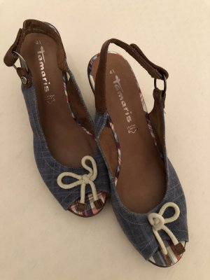 Tamaris Wedge Sandals blue-steel blue