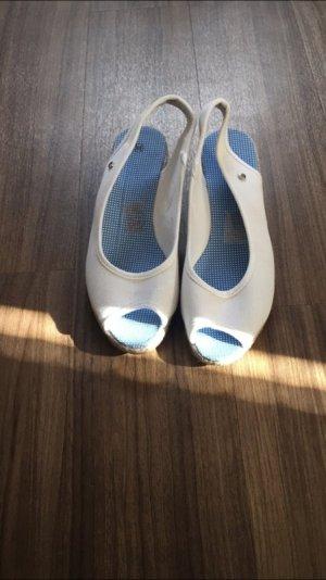 Wedge Sandals white-cornflower blue
