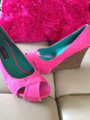 Wedges Keilabsatz High Heel NEU 39, pink