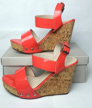 Ideal Wedge Sandals salmon