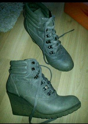 Wedges keilabsatz Schuhe Stiefeletten