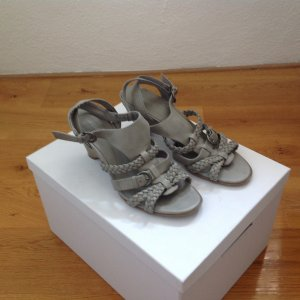 Ariane Wedge Sandals silver-colored