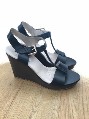 Clarks Wedge Sandals black-dark brown