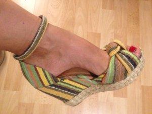 Sandalo con plateau multicolore