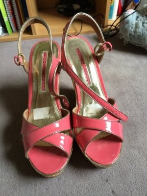 Studio Platform High-Heeled Sandal pink-gold-colored leather