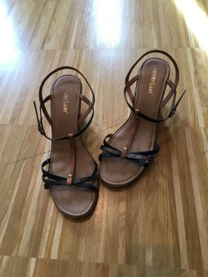 van der Laan High-Heeled Sandals brown-light brown