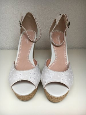 Pepe Jeans Wedge Sandals light brown-white