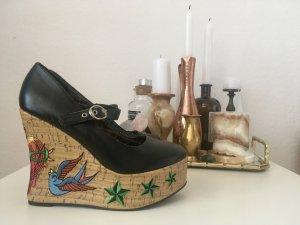 Wedges Plateau Schuhe Penthouse Shoes Tattoo Vintage 38,5