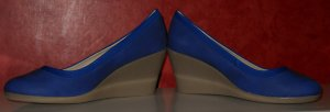 Wedges Pumps blau Gr. 39 neu Rockabilly
