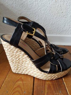 wedges sandalen schwarz