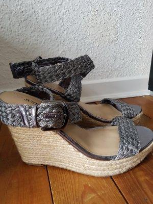 wedges sandalen Silber