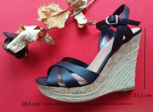 Wedges Sandalette mit schwarzen Riemen