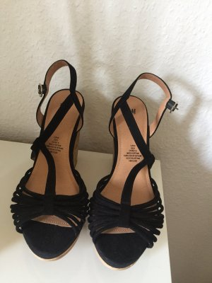H&M Wedge Sandals black-camel