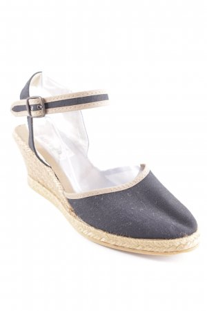 Wedges Sandaletten dunkelblau Casual-Look