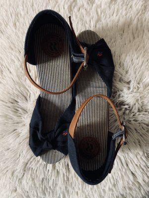 Romika Wedge Sandals dark blue-white