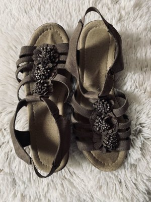 Wedge Sandals light brown-grey brown